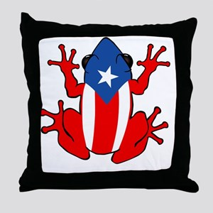Puerto Rico - PR - Coqui Throw Pillow