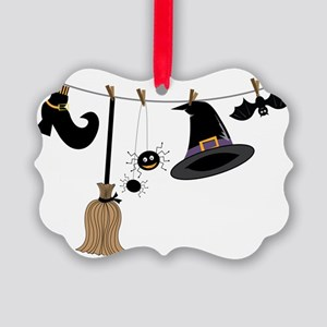 Witch Clothing Picture Ornament