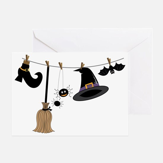 Witch Clothing Greeting Card