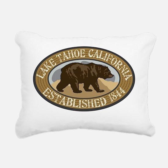 Lake Tahoe Brown Bear Ba Rectangular Canvas Pillow