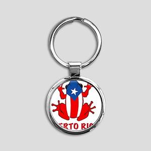 Puerto Rico - PR - Coqui Round Keychain