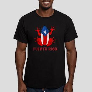 Puerto Rico - PR - Coq Men's Fitted T-Shirt (dark)