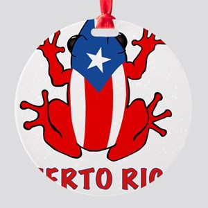 Puerto Rico - PR - Coqui Round Ornament