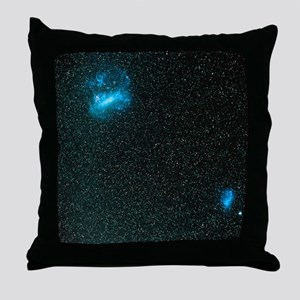 The Large and Small Magellanic Clouds Throw Pillow