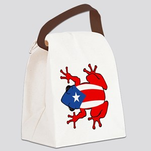 Puerto Rico - PR - Coqui Canvas Lunch Bag