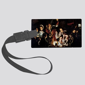 The Airpump by Joseph Wright Large Luggage Tag