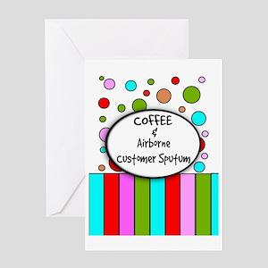 coffee airborne customer sputum Greeting Card