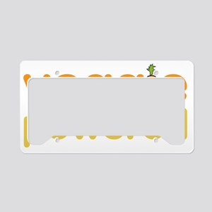 Veggie Powered License Plate Holder