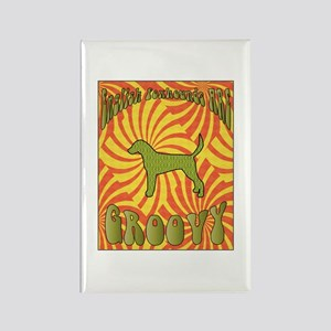Groovy Foxhounds Rectangle Magnet