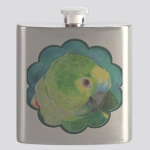 Blue-Fronted Amazon Flask