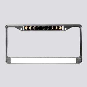 Time-lapse image of a solar ec License Plate Frame