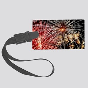 Time-exposure image of a firewor Large Luggage Tag