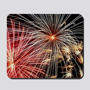 Time-exposure image of a firework displa Mousepad