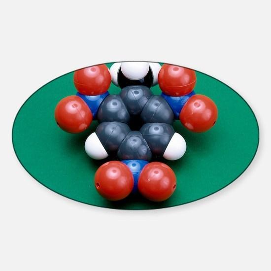 TNT molecule Sticker (Oval)