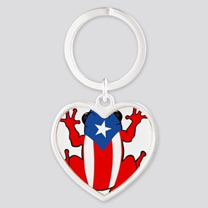 Puerto Rico - PR - Coqui Heart Keychain