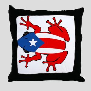 Puerto Rico - PR - Coqui Throw Pillow