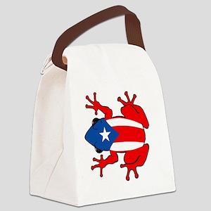 Puerto Rico - PR - Coqui Canvas Lunch Bag