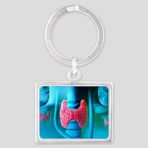 Thyroid gland Landscape Keychain