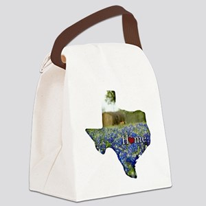 Texas Home Bluebonnets Canvas Lunch Bag