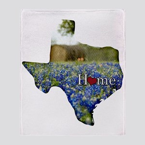 Texas Home Bluebonnets Throw Blanket