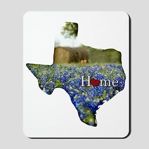 Texas Home Bluebonnets Mousepad