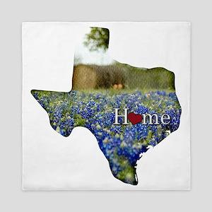 Texas Home Bluebonnets Queen Duvet