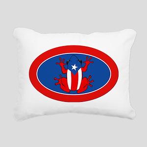 Puerto Rico - PR - Coqui Rectangular Canvas Pillow