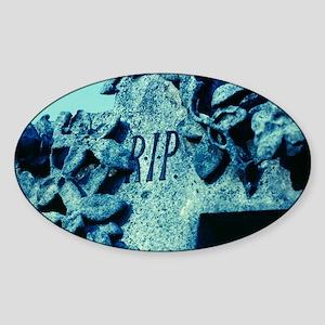 Tombstone Sticker (Oval)