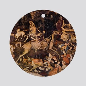 The Triumph of Death, Medieval fres Round Ornament