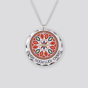 Good Luck Charm Necklace Circle Charm