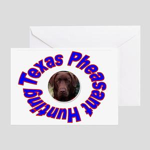TEXAS PHEASANT HUNTING Greeting Card