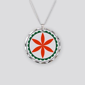 Rosette Hex Sign Necklace Circle Charm