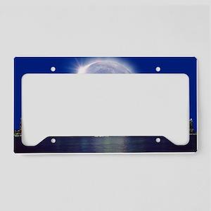 Total solar eclipse License Plate Holder