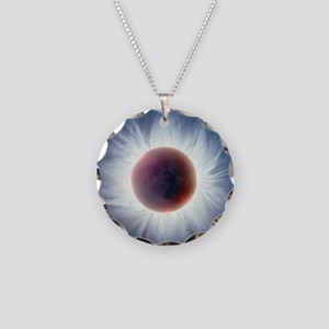 Total solar eclipse Necklace Circle Charm
