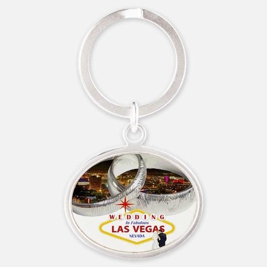 Wedding Rings In Las Vegas Oval Keychain