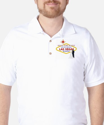 Save the Date for Our Las Vegas Wedding Golf Shirt