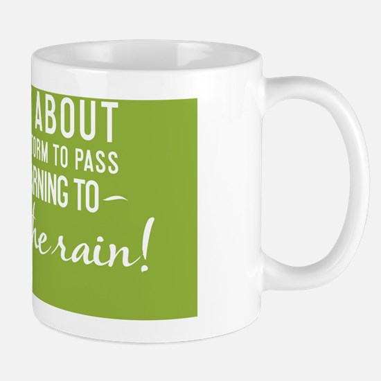 small print Life isnt about waiting for Mug