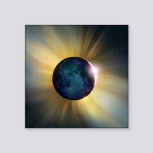 "Total solar eclipse Square Sticker 3"" x 3"""