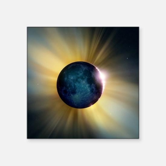 """Total solar eclipse Square Sticker 3"""" x 3"""""""