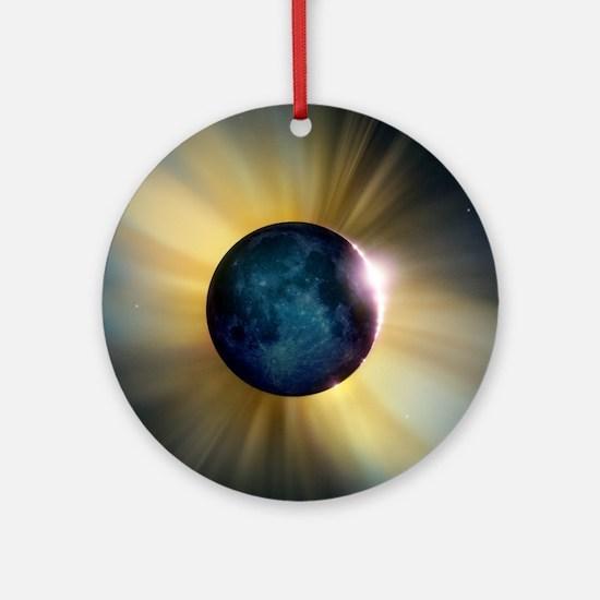 Total solar eclipse Round Ornament