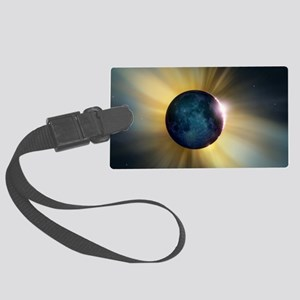 Total solar eclipse Large Luggage Tag