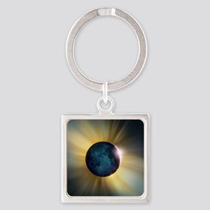 Total solar eclipse Square Keychain