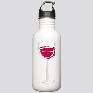GlassOfWineRed1B Stainless Water Bottle 1.0L