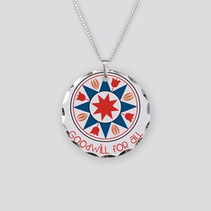 Goodwill For All Necklace Circle Charm