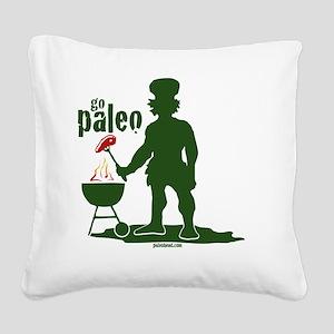 Paleo BBQ Square Canvas Pillow
