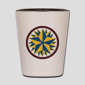 Triple Star Hex Shot Glass