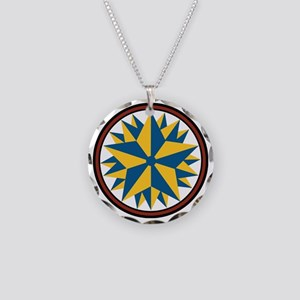 Triple Star Hex Necklace Circle Charm