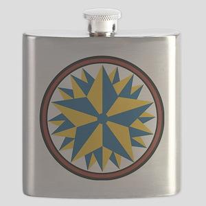 Triple Star Hex Flask