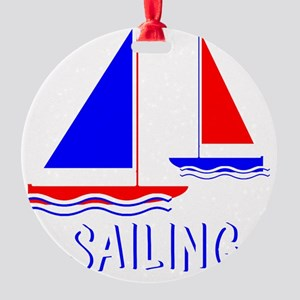 Sailing Sail Boat Round Ornament
