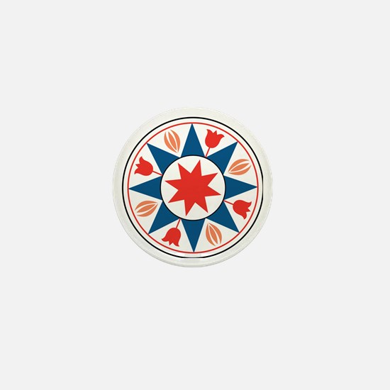 Eight Pointed Star Mini Button